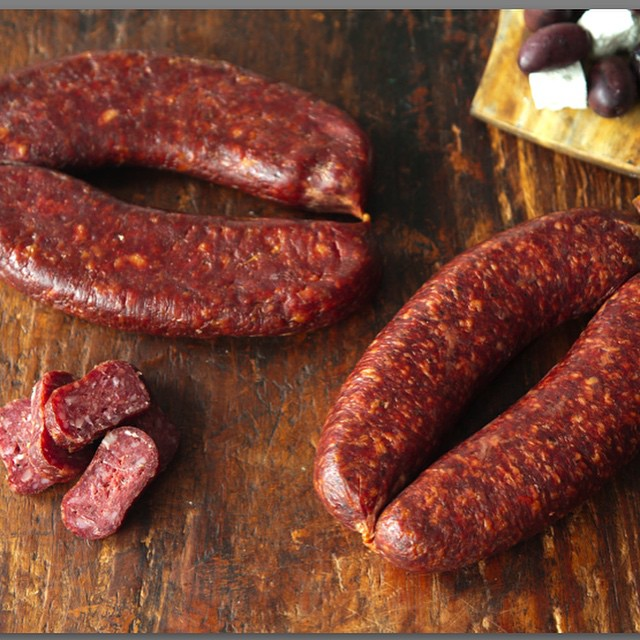 Ghuidem beef sausage... Packed with flavor without any overt gaminess. #muncanfoodcorp #charcuterie #sausage